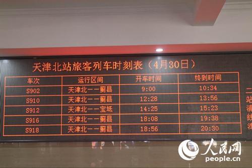 津蓟市郊旅客列车时刻表