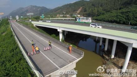 事故现场 图据河源广播电视台官方微博