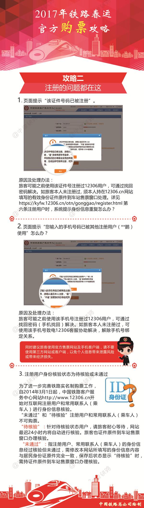 图解:春运首日火车票明日开售 铁总发布官方购票攻略【2】