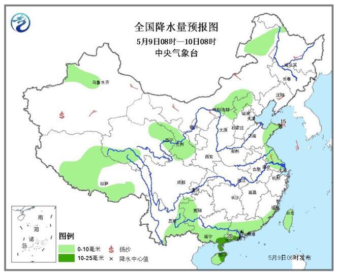 南方地区迎新一轮降水过程内蒙古等地多大风