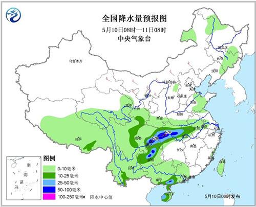 南方地区迎新一轮降水过程 11日华北有大风