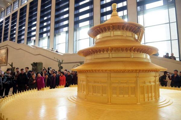 """""""著名古建筑天坛祈年殿制作模型""""入藏中国国家博物馆"""
