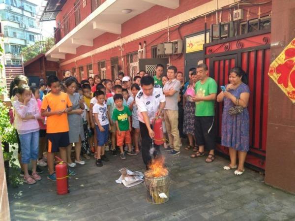 北京丰台南苑街道消防安全教育伴青少年安全过暑假