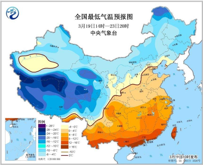 中东部地区预计将出现大范围大风降温天气过程