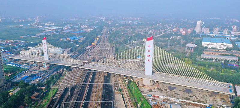 中建交通跨京广铁路大桥创两项世界第一