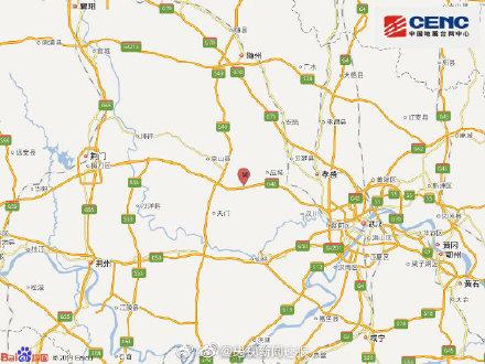 湖北孝感应城市发生4.9级地震震源深度10千米