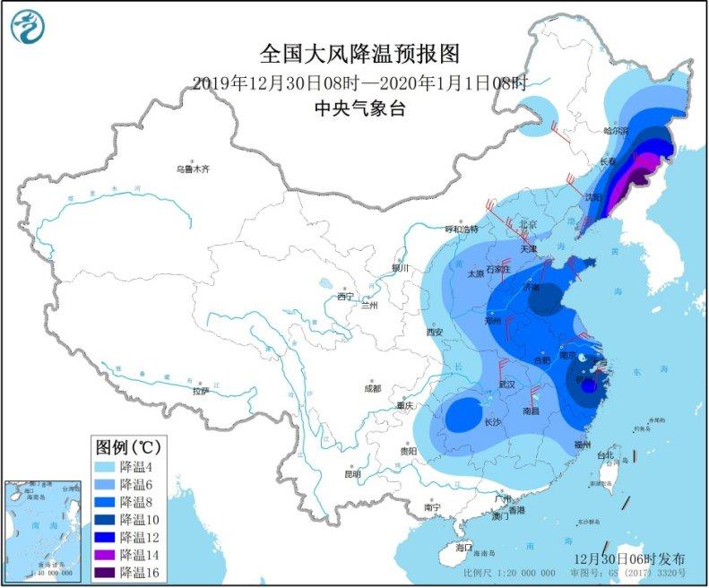 较强冷空气影响中东部地区 东北部分地区出现较强降雪