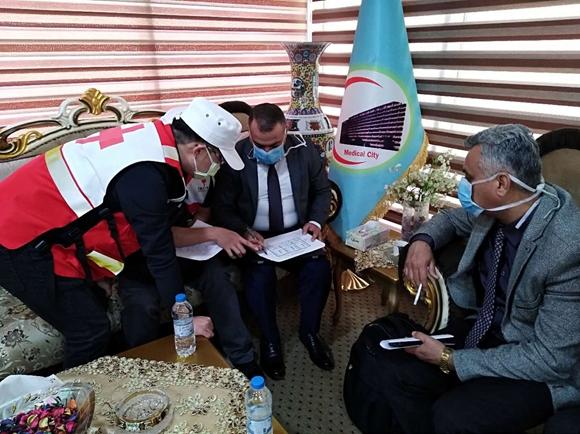 中国红十字会赴伊拉克志愿专家团队走访当地医疗机构