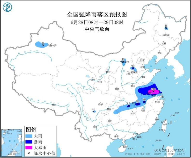 江汉东部黄淮江淮江南北部有强降雨 西北地区东部华北
