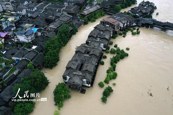 29天持续暴雨预警连幼年见多部分增强防汛应对