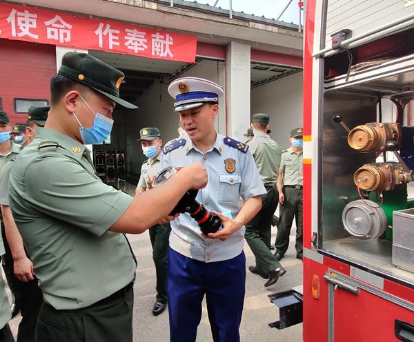 北京朝阳消防与某驻京部队开展共建交流活动