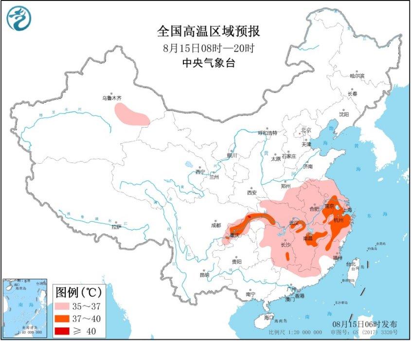 四川盆地局地将有大暴雨江浙一带高温可超40℃