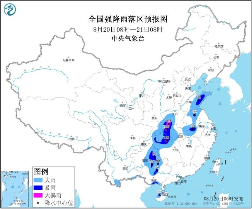 暴雨黄色预警:湖南、湖北、河南等地局地有大暴雨