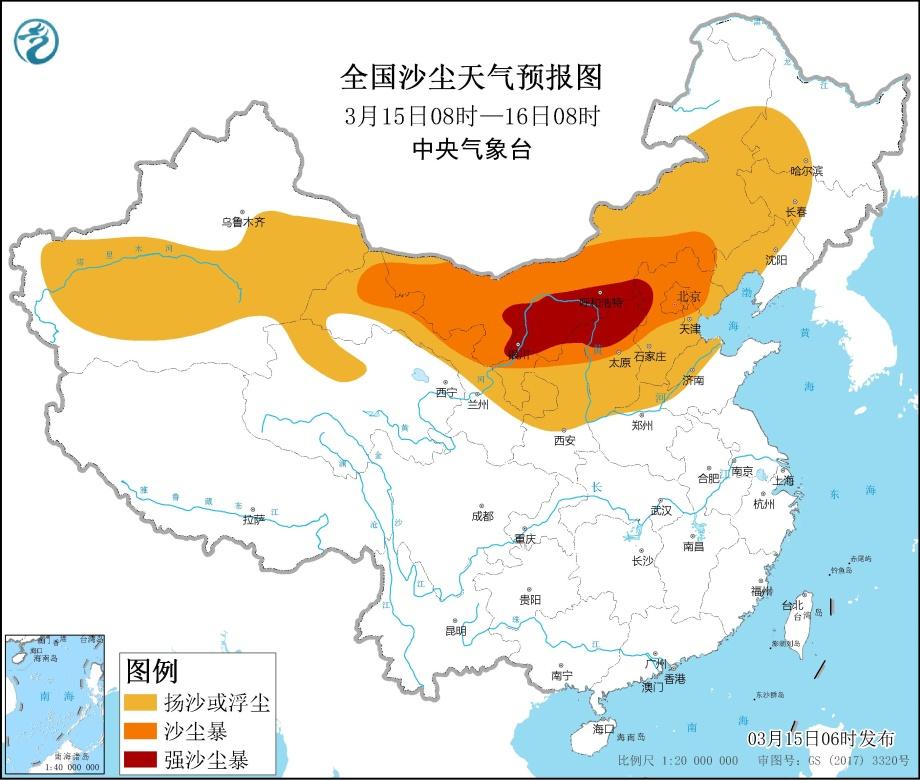 沙尘暴预警进级:北方12省市呈现大范畴黄沙