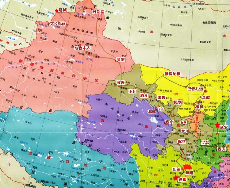 乌海到陕西大柳塔地图