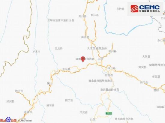 云南大理州漾濞县发生3.2级地震震源深度11千米楚天斗地主1.3