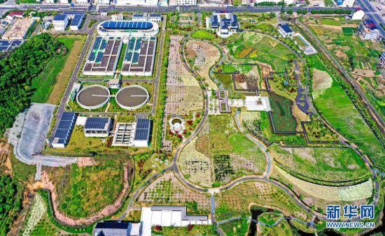 浙江仙居:污水处理厂变身公园